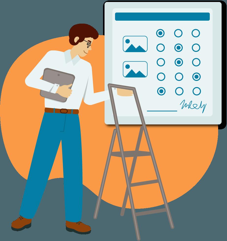 Dokumentations App KEVOX GO Formulare und Checklisten ausfüllen Leiterpruefung