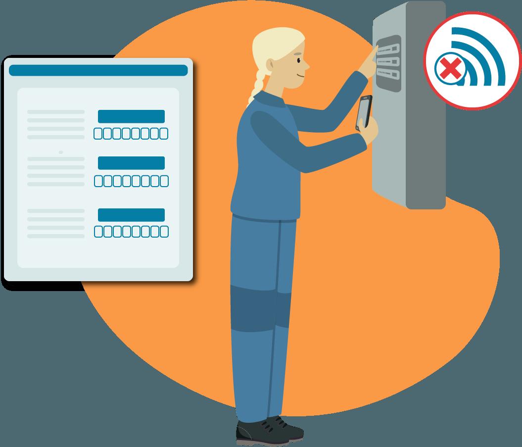 Dokumentations-App KEVOX GO Offlinemodus auch offline dokumentieren ohne Datenvolumen
