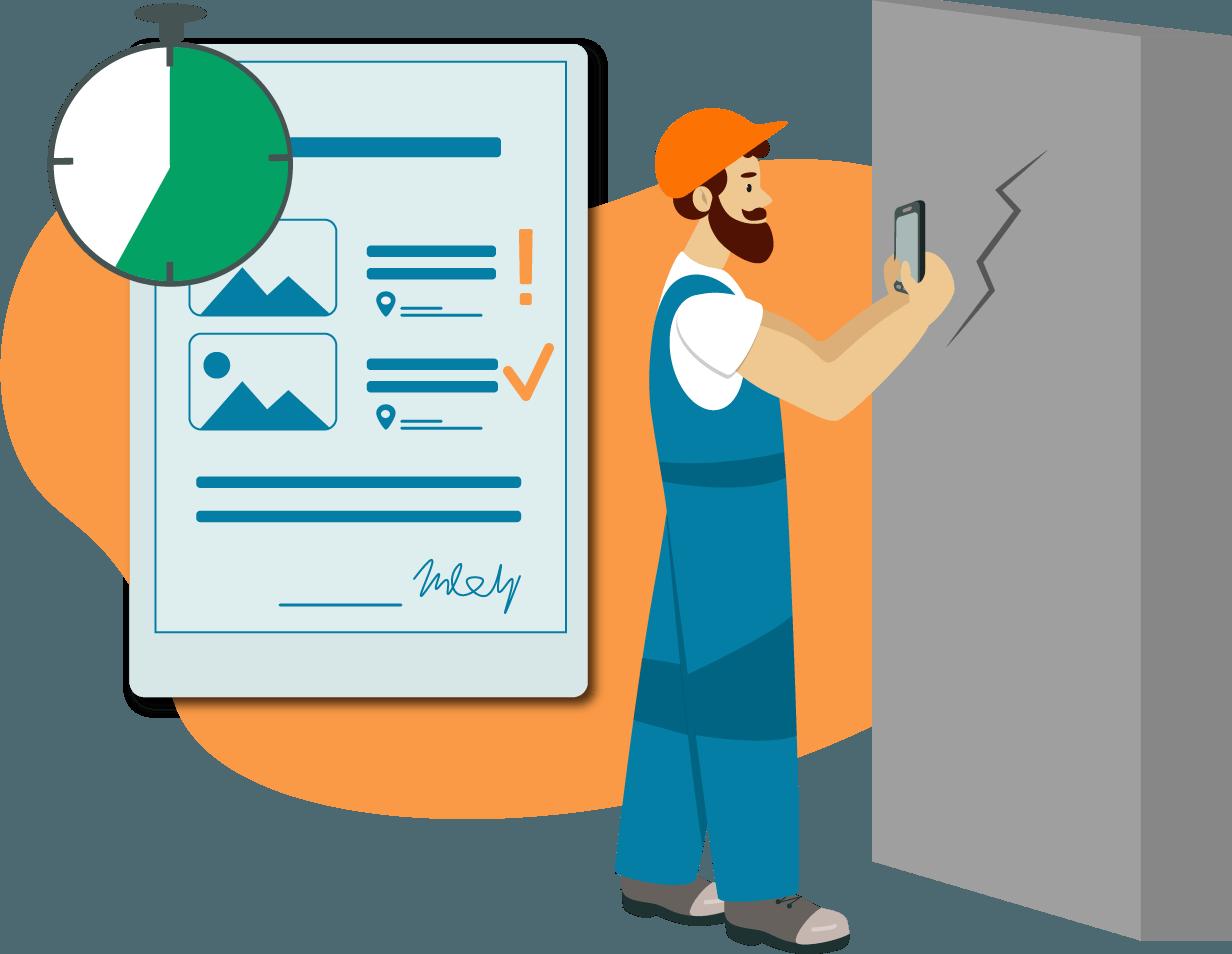 Zeit sparen mit der mobilen Dokumentatiosapp kevox go