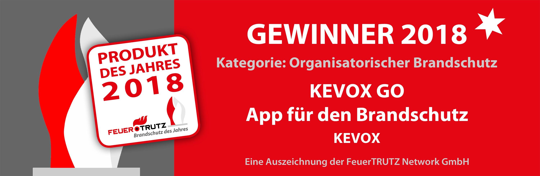 FeuerTRUTZ Produkt des Jahres_2018 Gewinner Organisatorischer BS - Kevox Go