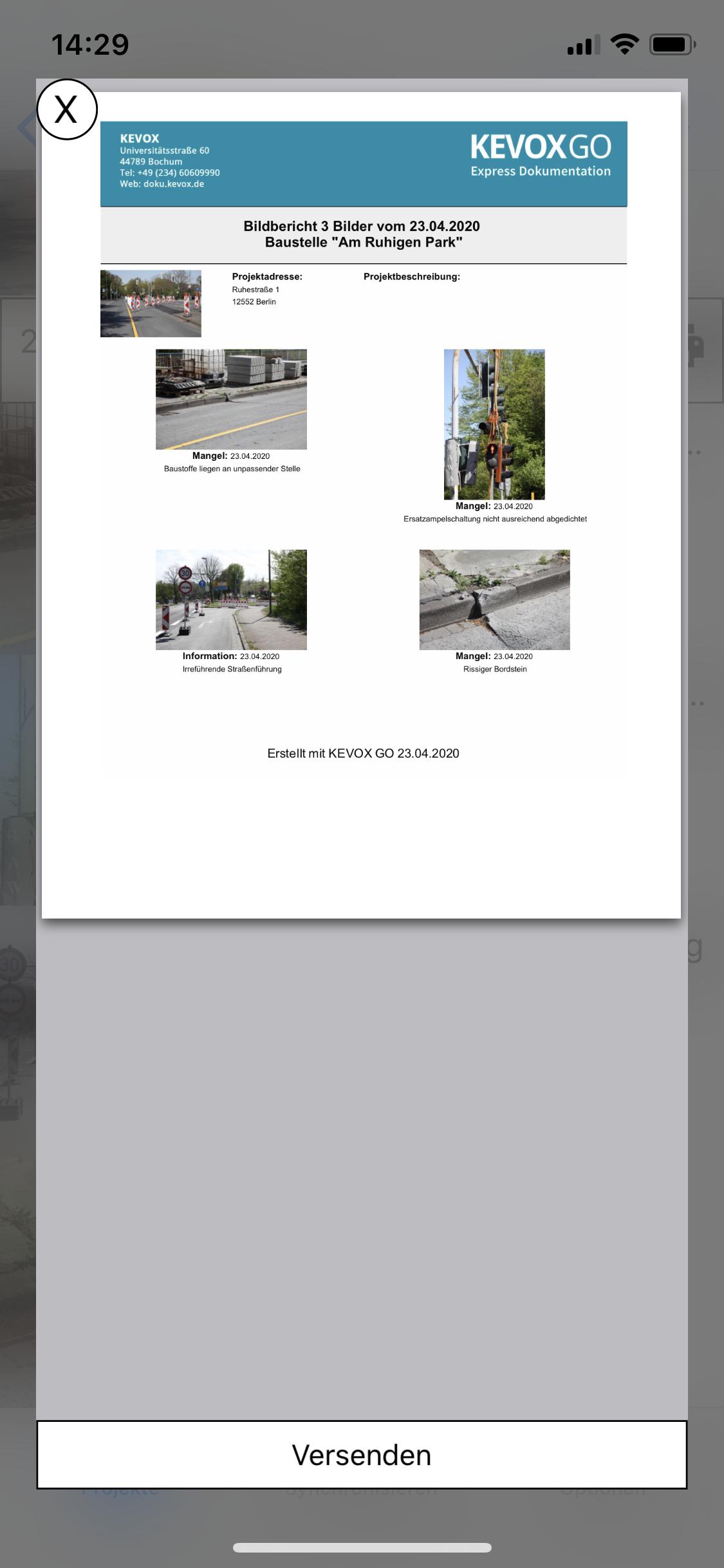 Fotodokumentations App für Baustellen Fotobericht