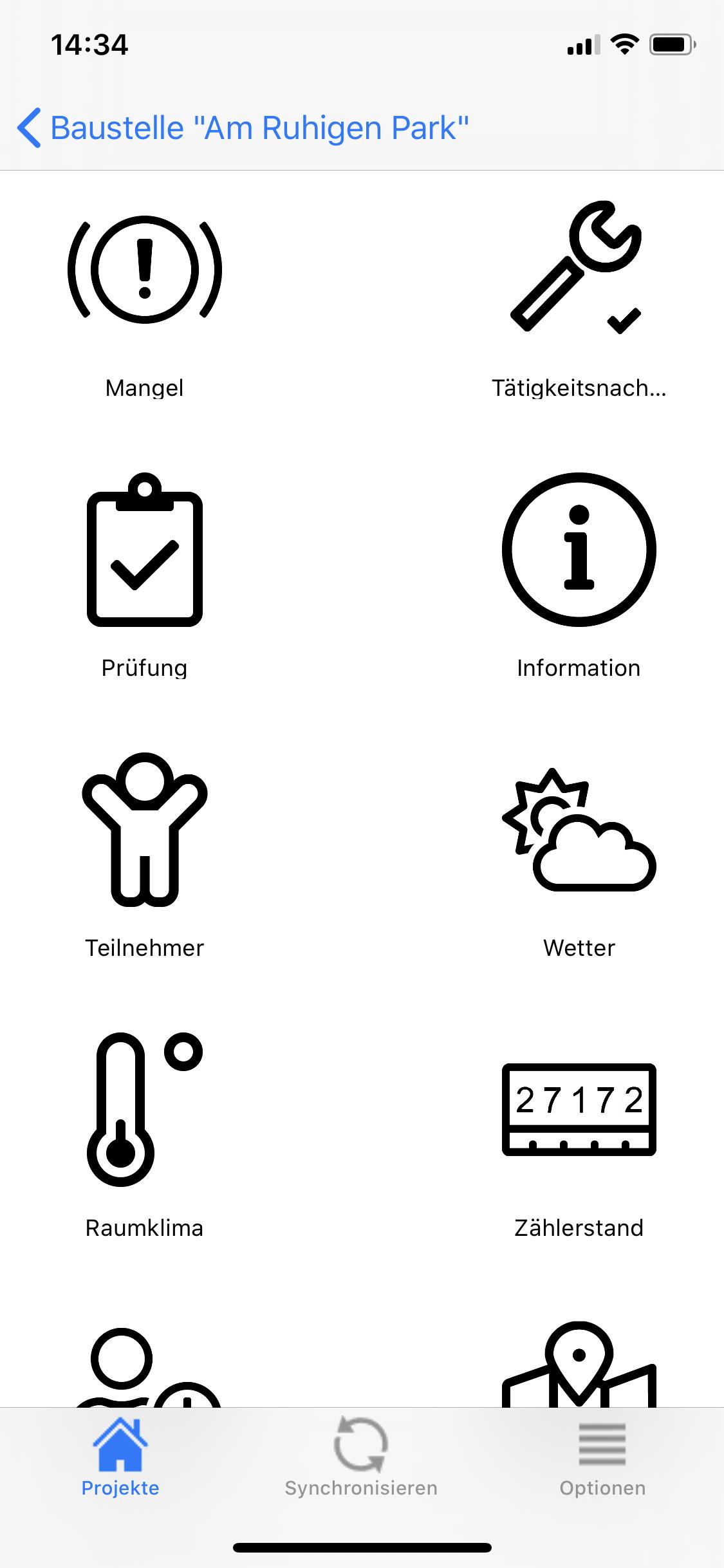 Fotodokumentation App Baustelle Mängel Wetter Information Raumklima